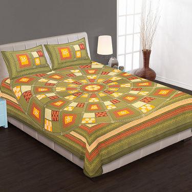 Set of 4 Cotton King Size Jaipuri Sanganeri Printed Bedsheets With 8 Pillow Covers-90x108B4C6