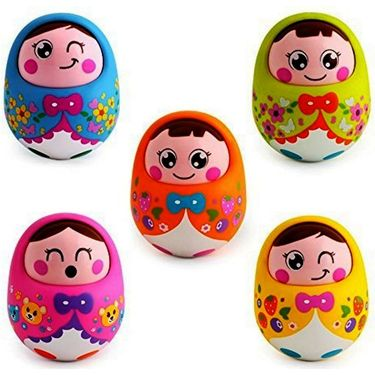 Saffire Push And Shake Wobbling Roly Poly Tumbler Doll With Soft & Sweet Bell Sounds