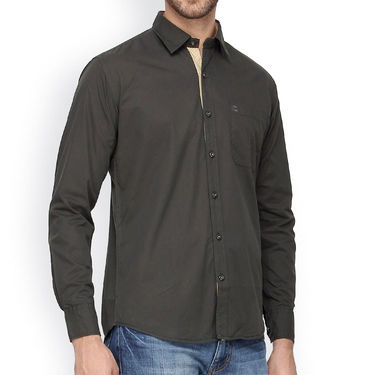 Crosscreek Full Sleeves Cotton Casual Shirt_320 - Grey