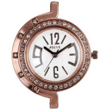 Adine Round Dial Analog Watch For Women_Ad1002 - White
