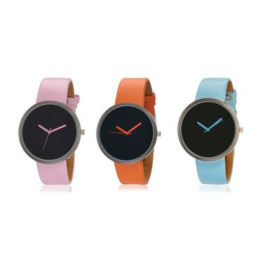 Pack of 3 Ultra Slim Japanese Quartz Unisex Watches_Adn115