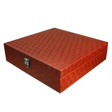12 Slot Leatherette Vintage Red Watch Organiser_ADWB0000131
