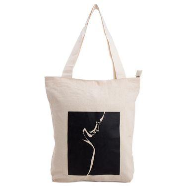 Arisha Cotton Khadi Handbag AE40b -Cream