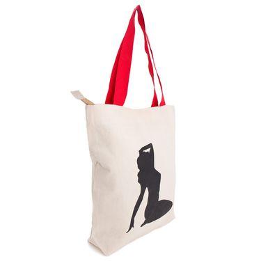 Arisha Cotton Khadi Handbag AE40q -Cream