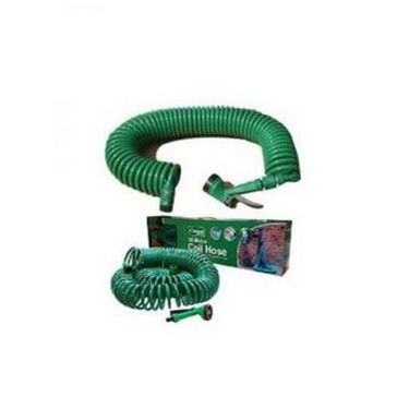 Auto furnish Coiled High Pressure Washing Water Spray Jet Gun For Cars Bikes With 15 Meter Expandable-AF1690