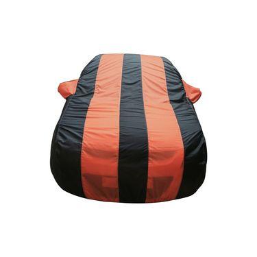 Autofurnish Stylish Orange Stripe Car Body Cover For Maruti Zen Estilo -AF21177