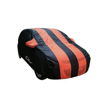 Autofurnish Stylish Orange Stripe Car Body Cover For Nissan Sunny  -AF21222