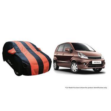 Autofurnish Stylish Orange Stripe Car Body Cover For Maruti S-Cross  -AF21245