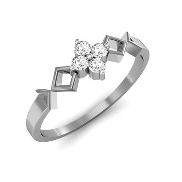 Ag Real Diamond Katrina Ring_AG0014w