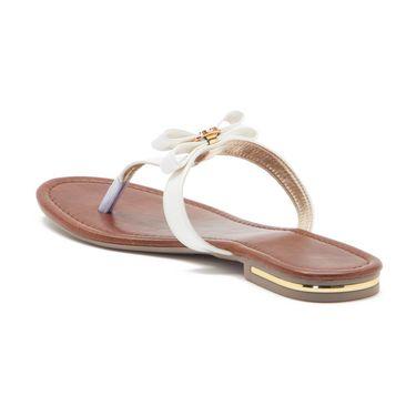 Aleta Synthetic Leather Womens Flats Alwf0316-White