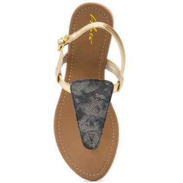 Aleta Synthetic Leather Womens Flats Alwf0716-Gold