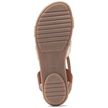 Aleta Synthetic Leather Womens Flats Alwf0816-Gold/Tan