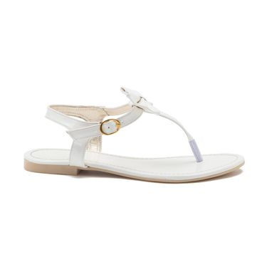 Aleta Synthetic Leather Womens Flats Alwf0916-White