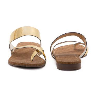 Aleta Synthetic Leather Womens Flats Alwf1216-Gold