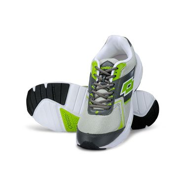 Lotto Grey & Lime Sports Shoes -AR3241