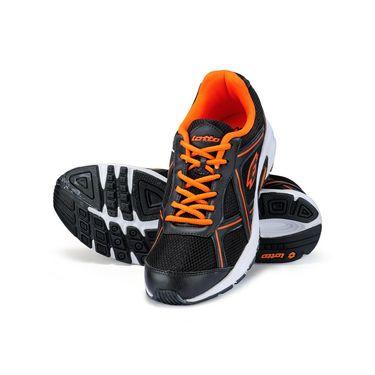 Lotto Black & Orange Sports Shoes -AR3262