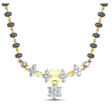 Avsar Real Gold & Swarovski Stone Vishakha Mangalsutra_Avm058yb