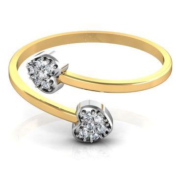 Avsar Real Gold & Swarovski Stone Manali Ring_A029yb
