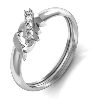 Avsar Real Gold & Swarovski Stone Kinjal Ring_A054wb