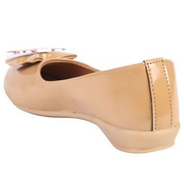 Azores Womens Beige Ballerina -Azf_10Bg