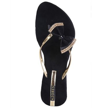 Azores Womens Black Sandals -Azf_16B