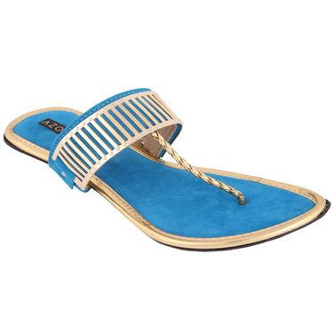 Azores Womens Blue Sandals -Azf_3Blu