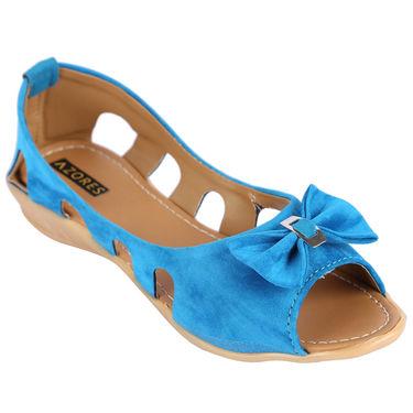 Azores Womens Sky Blue Bellies -Azf_Us
