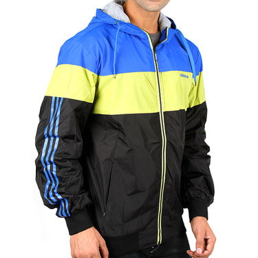 Adidas Men Full Sleeves Jacket_Adidas01 - Black