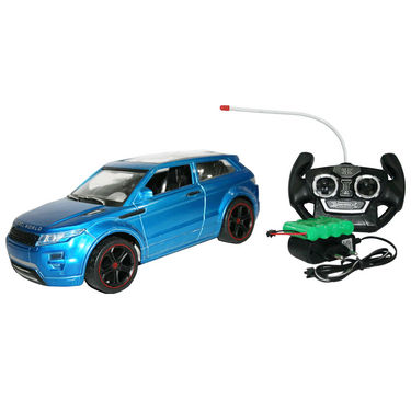 AdraXx 1:14 Scale Champion RC SUV Toy Car With Reachrgeable Batteries - Blue