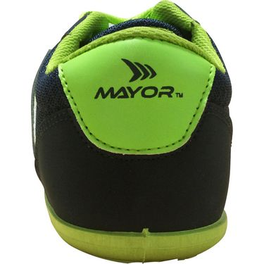 Mayor  Amaze Navy, Lime Green Shoes - 9