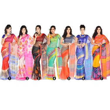 Anira Pack of 7 Printed Kota Doria Sarees (7K7)