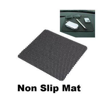 Anti slip Car Dashboard Mat Black - Pack of 2