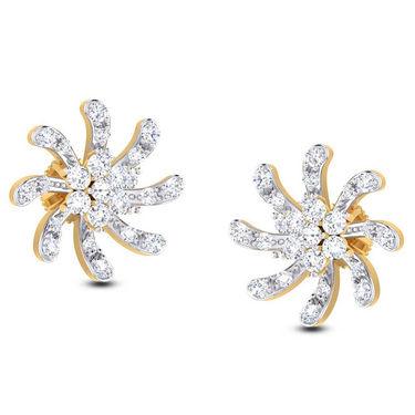 Kiara Swarovski Signity Sterling Silver Aarohi Earring_B412 - Silver