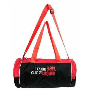 Combo of Protoner Gym Bag - It Never Gets Easier You Just Get Stronger With Skipping Rope