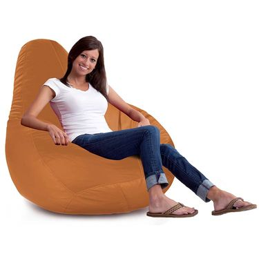 Storyathome-_XXL Tan  Bean Bag Chair Cover Without Beans-BB1404
