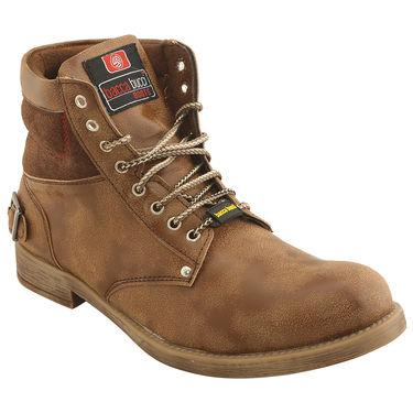 PU  Brown  Boot -ntb16