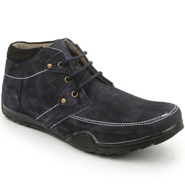 Bacca Bucci Suede Leather Blue Casual Shoes -Bbmb3043B
