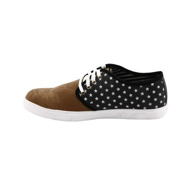 Bacca Bucci Canvas  Casual Shoes  Bbmb3084A -Black & Tan