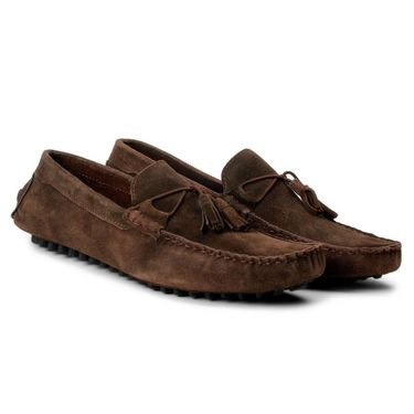 Bacca Bucci Suede Leather Brown Loafers -Bbmc4061C