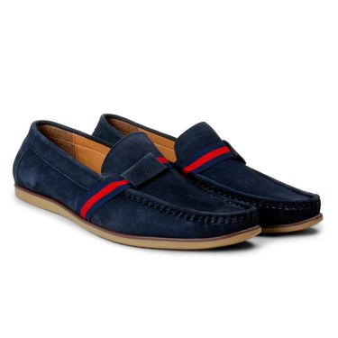 Bacca Bucci Suede Leather Blue Loafers -Bbmc4063B