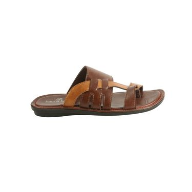 Bacca bucci Leather  Slipper Bb028 _Brown