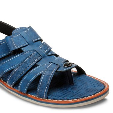 Bacca Bucci Artificial Leather Blue Sandals -Bbme6049B