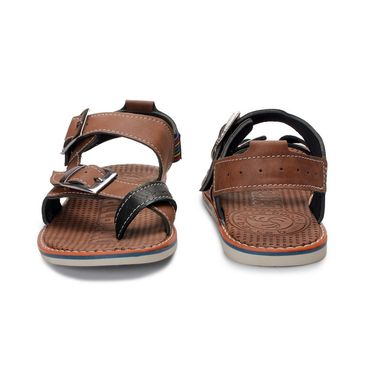 Bacca Bucci Artificial Leather Brown Sandals -Bbme6051C