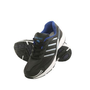Bacca Bucci PU Black Sports Shoes -ntb4