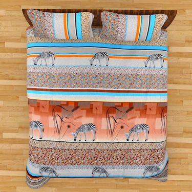 Mangalam Polycotton double Bedsheet  with 2 pillow covers-BD-17