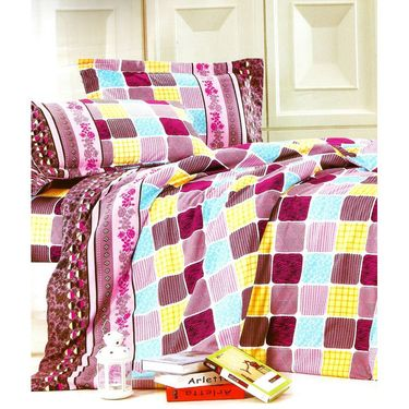 Amore Double BedSheet With 2 Pillow Cover-BDMY02