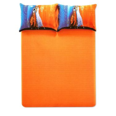Amore Double BedSheet With 2 Pillow Cover-BDTN06