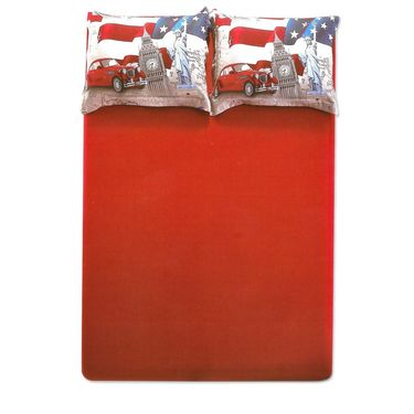 Amore Double BedSheet With 2 Pillow Cover-BDTN07