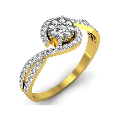 Avsar Real Gold & Swarovski Stone Pradnya Ring_B048yb