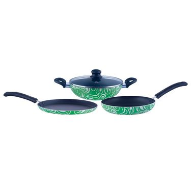 Brilliant Symphony Green 4pc Nonstick Induction Based Cookware Set